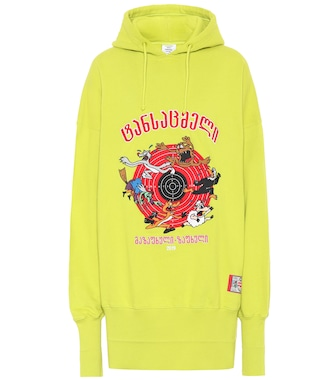 Vetements - Printed oversized cotton hoodie - mytheresa.com