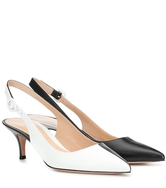 Gianvito Rossi - Anna leather slingback pumps - mytheresa.com