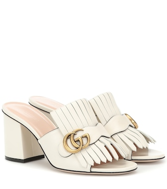 Gucci - Leather mules - mytheresa.com