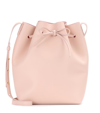 Mansur Gavriel - Leather bucket bag - mytheresa.com