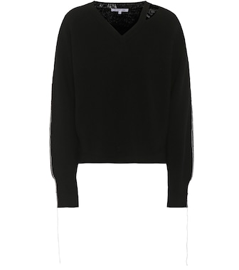 Helmut Lang - Cotton and wool-blend sweater - mytheresa.com