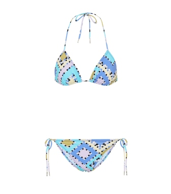 55f40ea770 ... cotton and silk dress - mytheresa.com. Emilio Pucci Beach - Printed  triangle bikini - mytheresa.com