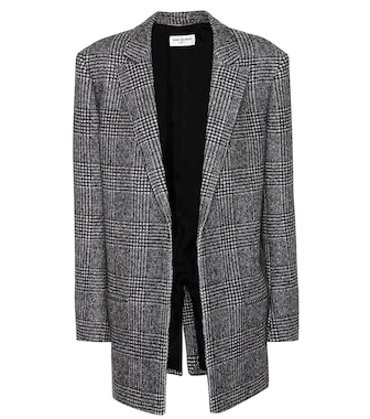 Saint Laurent - Glen plaid wool-blend jacket - mytheresa.com