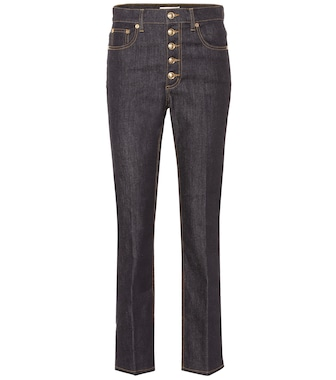 Tory Burch - Jean Button Fly à taille haute - mytheresa.com
