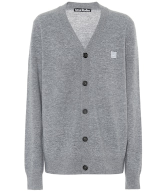 Acne Studios - Face wool cardigan - mytheresa.com