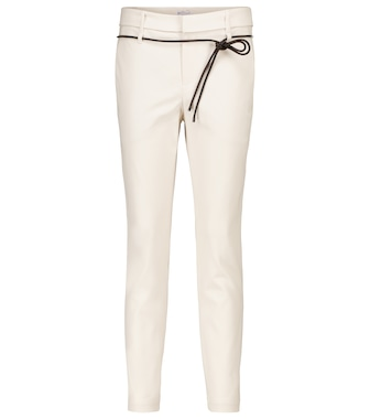 Brunello Cucinelli - Stretch-cotton cigarette pants - mytheresa.com
