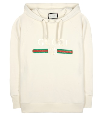 Gucci - Appliquéd cotton hoodie - mytheresa.com