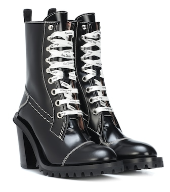 Acne Studios - Lace-up leather ankle boots - mytheresa.com