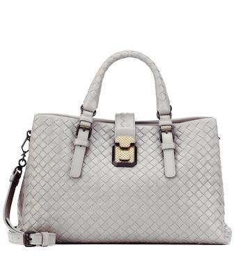 48c1c2d2f3fd Bottega Veneta - Small Roma intrecciato leather tote - mytheresa.com