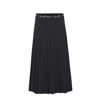 Gucci - Pleated wool-blend skirt - mytheresa.com