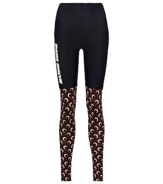 Marine Serre - Exclusive to Mytheresa – Printed stretch-jersey leggings - mytheresa.com