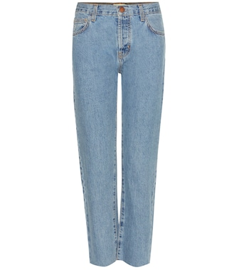 Current/Elliott - Jeans The Original Straight mid-rise cropped - mytheresa.com