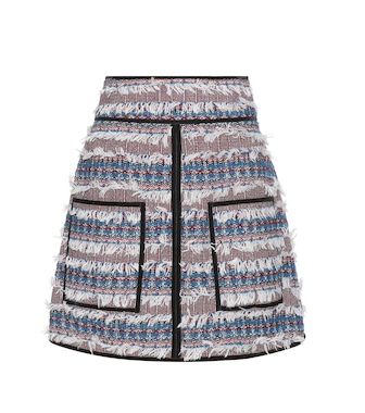 See By Chloé - Velvet-trimmed tweed skirt - mytheresa.com