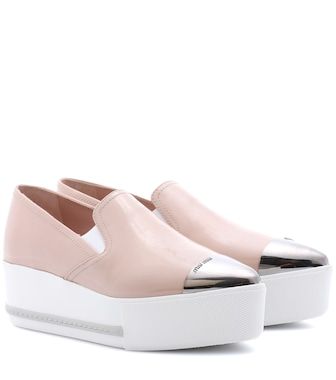 Miu Miu - Leather platform loafers - mytheresa.com