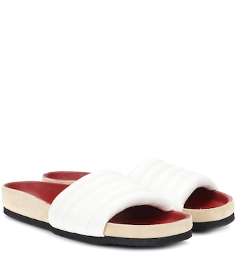 Isabel Marant - Hellea leather slides - mytheresa.com