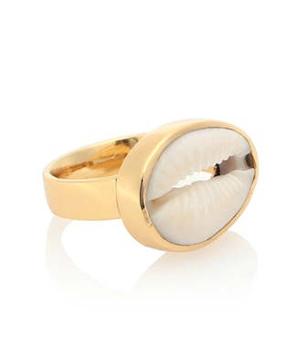 TOHUM Design - 22kt gold plated cowry shell ring - mytheresa.com