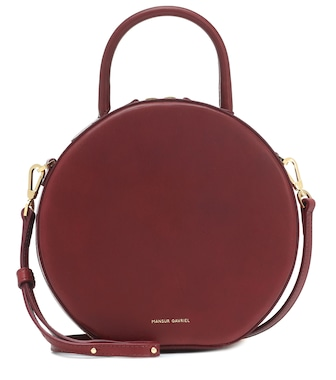 Mansur Gavriel - Circle leather crossbody bag - mytheresa.com