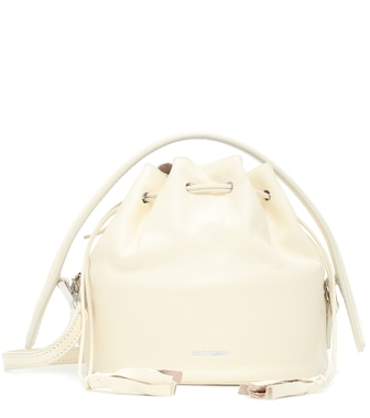 Jil Sander - Drawstring Drum Mini leather tote - mytheresa.com