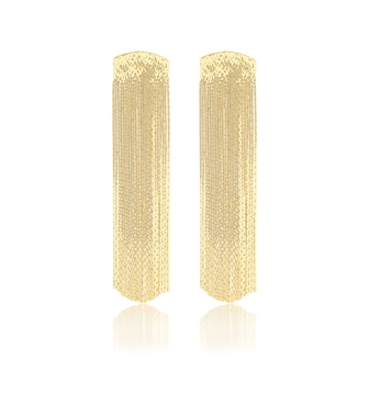 Anissa Kermiche - Grand Fil d'Or gold-plated earrings - mytheresa.com