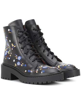 Kenzo - Pike embroidered leather boots - mytheresa.com