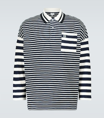 LOEWE - Striped long-sleeved polo shirt - mytheresa.com