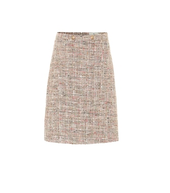 Etro - Tweed cotton-blend A-line skirt - mytheresa.com