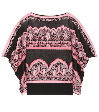 Valentino - Knitted acquard top - mytheresa.com