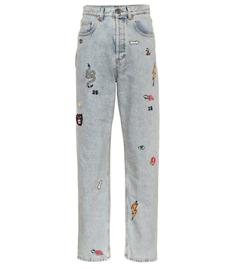 Gucci - Patch boyfriend jeans - mytheresa.com