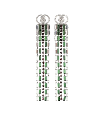 Gucci - Crystal Web drop earrings - mytheresa.com