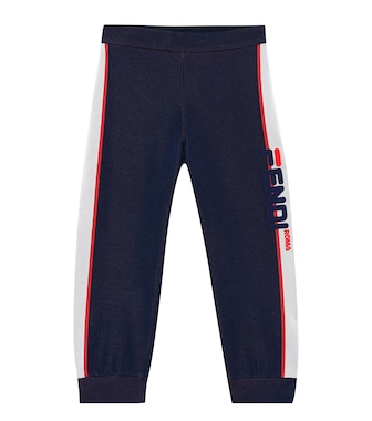 Fendi Kids - FENDI MANIA cotton-blend trackpants - mytheresa.com