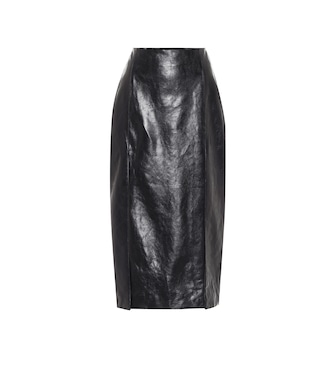 Gucci - High-rise leather pencil skirt - mytheresa.com