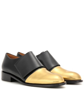 Marni - Metallic leather and leather monk shoes - mytheresa.com