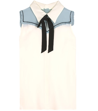 Miu Miu - Silk top - mytheresa.com