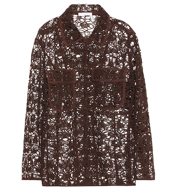 Chloé - Long sleeve floral lace jacket - mytheresa.com
