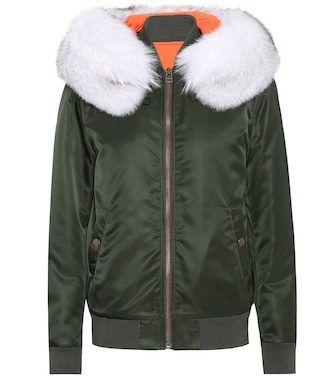 Mr & Mrs Italy - Exclusive to mytheresa.com – New York fur-trimmed bomber jacket - mytheresa.com