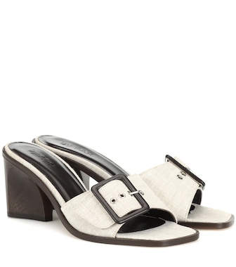 By Far - Silvia linen sandals - mytheresa.com