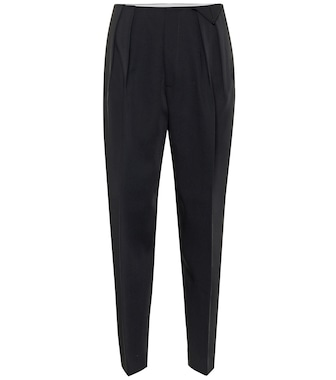 Bottega Veneta - High-rise wool pants - mytheresa.com