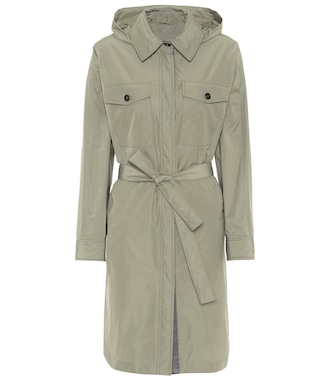 Brunello Cucinelli - Coated cotton-blend raincoat - mytheresa.com