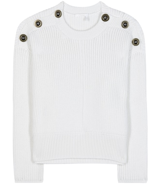Chloé - Embellished wool sweater - mytheresa.com