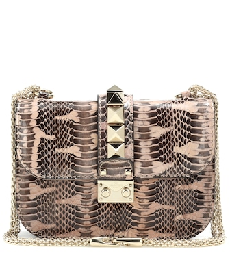 Valentino - Valentino Garavani - Sac cross-body en serpent Lock Small - mytheresa.com