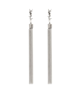 Saint Laurent - LouLou chain tassel earrings - mytheresa.com