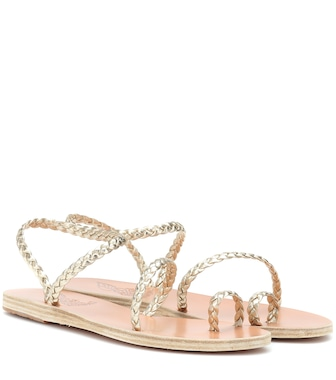 Ancient Greek Sandals - Eleftheria metallic leather sandals - mytheresa.com