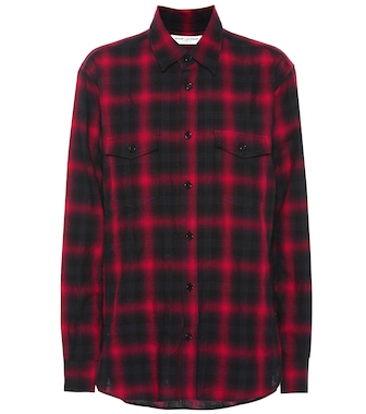 Saint Laurent - Plaid cotton shirt - mytheresa.com