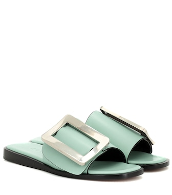 Boyy - Exclusive to Mytheresa – Buckle leather sandals - mytheresa.com
