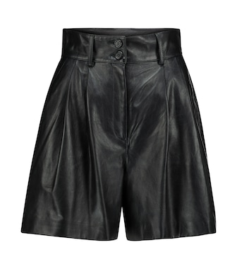 Dolce & Gabbana - High-rise leather shorts - mytheresa.com