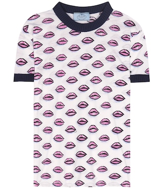 Prada - Printed cotton T-shirt - mytheresa.com