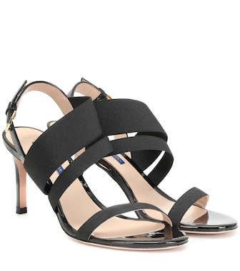 Stuart Weitzman - Adrienne leather sandals - mytheresa.com
