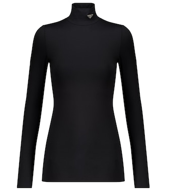 Prada - Stretch-jersey turtleneck top - mytheresa.com