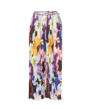Christopher Kane - Pleated printed silk trousers - mytheresa.com