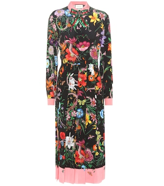 Gucci - Printed silk dress - mytheresa.com